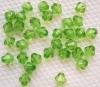 Бусины прозрачные биконус 5мм зелёные, 50шт/уп