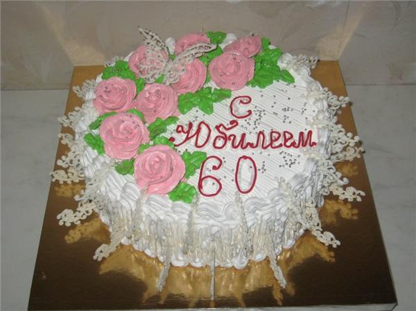 Торт на 60 лет женщине украсить