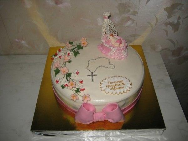Торт на крестины фото в домашних условиях