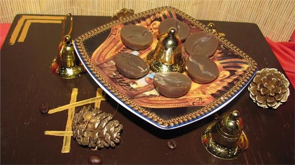 Массажные плитки для тела с ароматом кофе