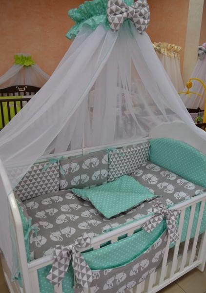 Своими руками детский комплект в кроватку для новорожденных