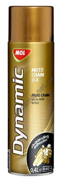 Смазка спрей с тефлоном для цепей мотоциклов MOL Dynamic Moto Chain O-X 0,4л
