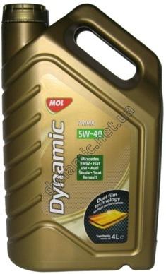 Синтетическое моторное масло MOL Dynamic Prima 5W-40 4л