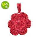8GB флешка кристалл в виде красной розы