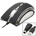 Черная игровая Оптическая Мышь PS/2 USB 3D для Laptop