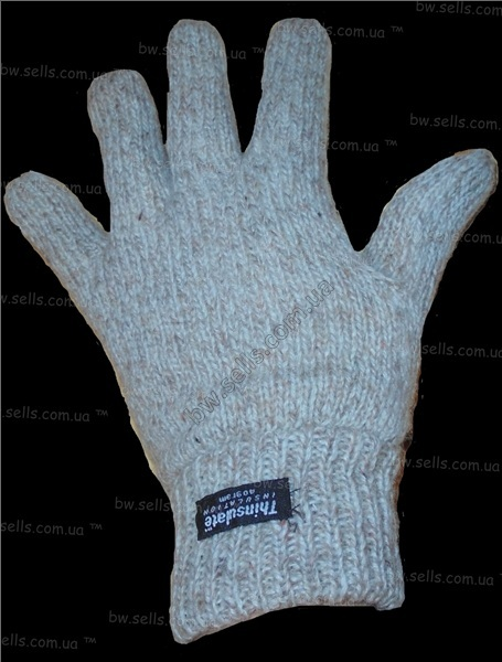 Теплые плотные шерстяные перчатки утеплитель Thinsulate
