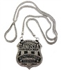 Silver Tone Gangsta Money Power Respect Chain