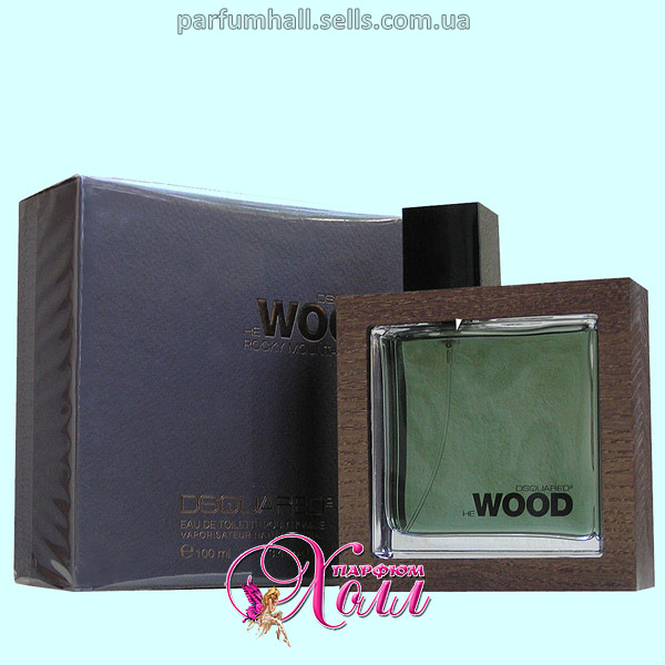 He Wood Dsquared2 Rocky Mountain Wood 100ml eau de toilette Хі Вуд Діскваред Рокі Маунтен Вуд туалетна вода мужская