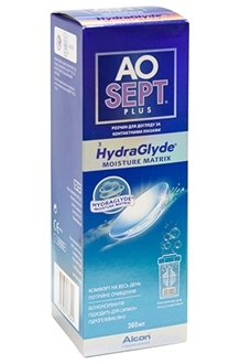 Раствор Aosept Plus HydraGlyde (360 ml)