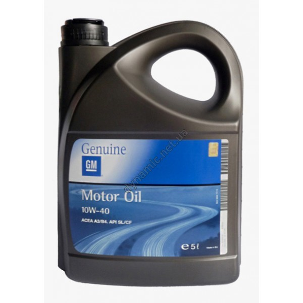 Моторное масло GM Motor Oil Semi Synthetic 10W-40 5л