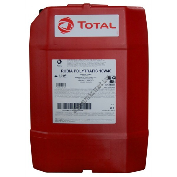 Моторное масло TOTAL RUBIA POLYTRAFIC 10W-40 20л