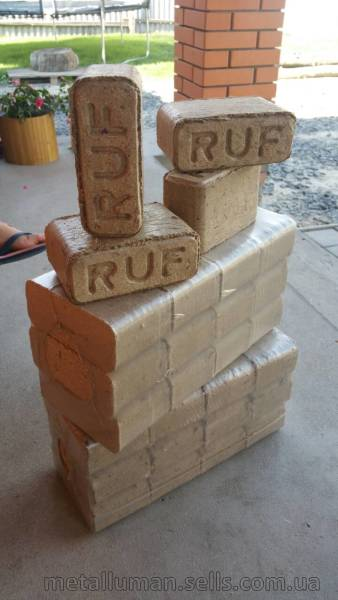 Briquettes fuel, such as  RUF - warehouse, production