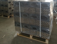 Fuel briquette four sided profile