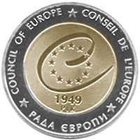 60 years of the Council of Europe coin 5 UAH 2009