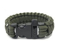 Parachute cord survival bracelet from
