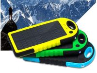 Portable Charger Power Bank 20000 mAh with solar battery water resistant