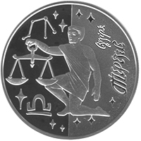 Scales silver coin 5 uah 2008