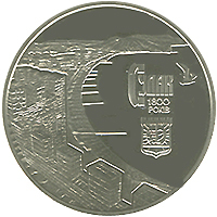 1800 years Sudak silver coin 5 UAH 2012
