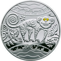 Year of the Monkey Silver Coin 5 uah 2015