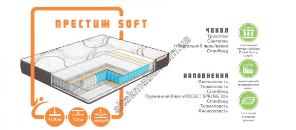 Матрас Престиж SOFT, MUSSON™