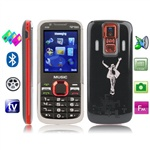 Nokia 5130 Xpress Music (Red) TV (SECAM / PAL / NTSC), 3 сим карты, Bluetooth, FM