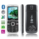 Fashion DDT-19 (Black) Bluetooth FM Mobile Phone