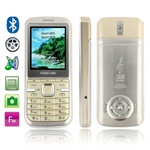Fashion DDT-19 (Gold) Bluetooth FM Mobile Phone