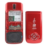 Fashion DDT-19 (Red) Bluetooth FM Mobile Phone