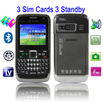 E73 TV, 3 Sim, (Black)