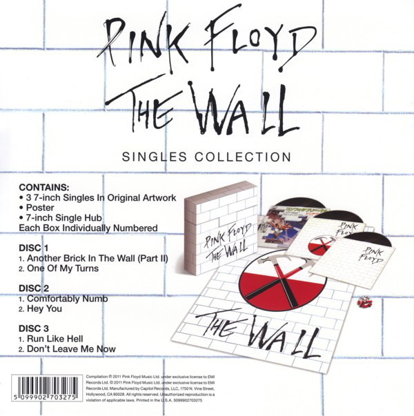 Pink Floyd The Wall Singles Collection