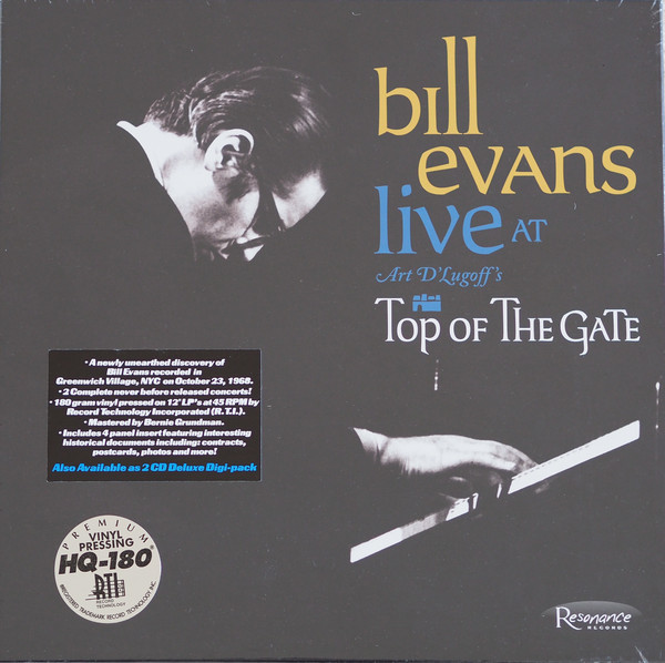 Bill Evans – Live At Art D'Lugoff's Top Of The Gate Limited Edition 1st Pressing of 3000.