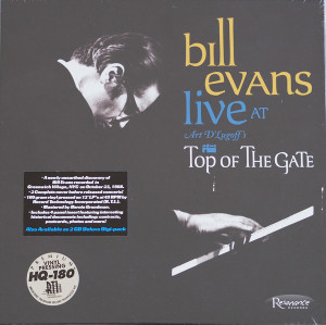 Bill Evans ‎– Live At Art D'Lugoff's Top Of The Gate Limited Edition 1st Pressing of 3000.